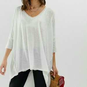 NWT Free People Catch Waves Tee